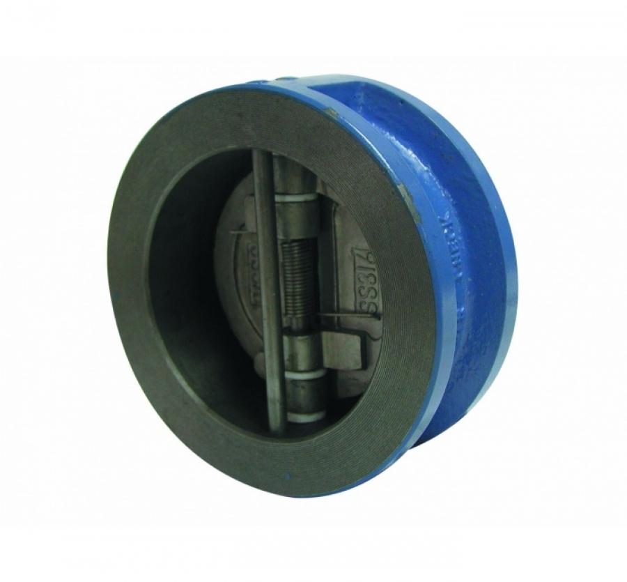 Обратный клапан двухстворчатый межфланцевый корпус-чугун, диск-нерж. сталь Ду 300 (Артикул:2401 20)
