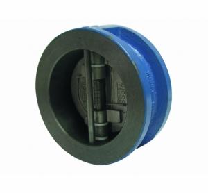 Обратный клапан двухстворчатый межфланцевый корпус-чугун, диск-нерж. сталь Ду 200 (Артикул:2401 16)