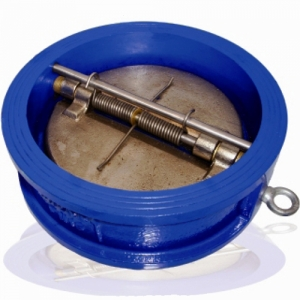 Обратный клапан двухстворчатый межфланцевый корпус-чугун, диск-чугун Ду 150 (Артикул:1GH023L-16/150)